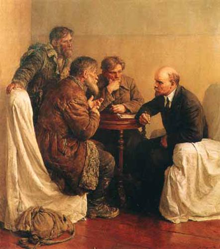 serow lenin conversing the peasants