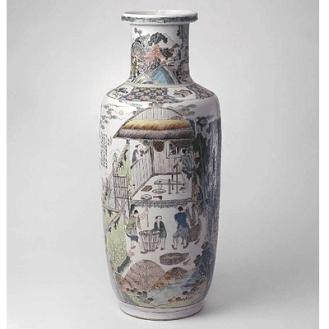 """Vase de la """"famille verte"""" - © China Online Museum"""