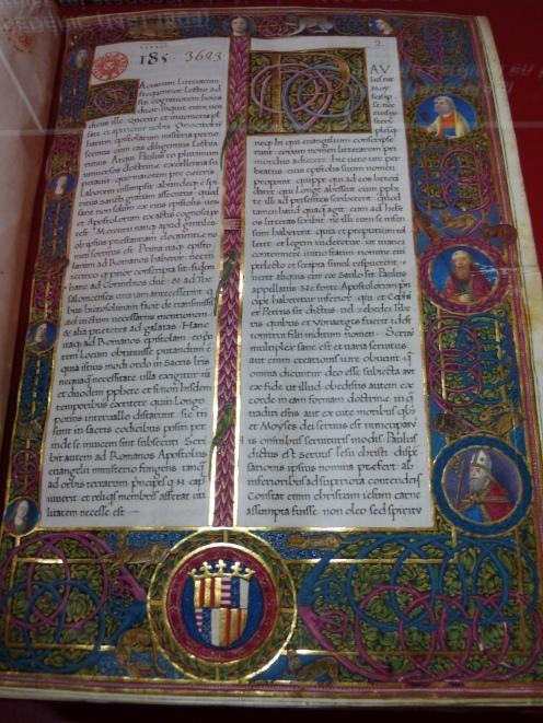 Saint Athanase, Enarrationes in Epistolas sancti Pauli, Naples, c 1480-1490, enluminé par un artiste français, BnF, Manuscrits