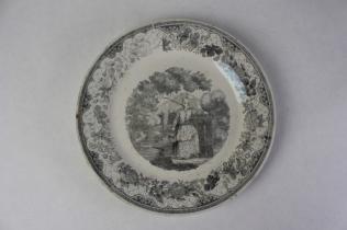 Assiette à décor chinois de Saint-Gaudens / Valentine - © 2008-2017 L'Association des Conservateurs des Musées de Midi-Pyrénées