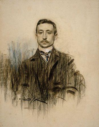Ramon Casas - Dessin de Chicharro - Museo nacional de arte de Cataluña de Barcelone