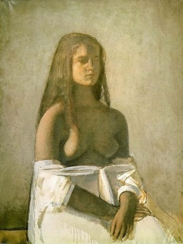Balthus - Jeune fille à la chemise blanche (1955)