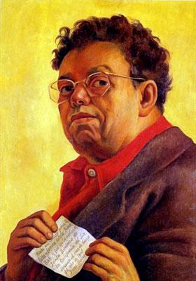 Diego Rivera - Autoportrait pour Irène Rich (1941)