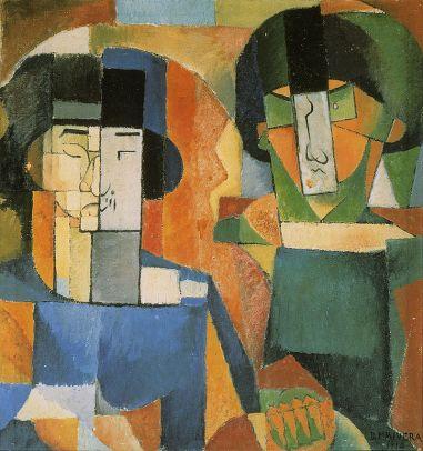 Diego Rivera - Portrait de Messieurs Kawashima et Fujita (1914) - Collection privée