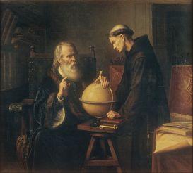 Félix Parra - Galileo en la Universidad de Padua demostrando las nuevas teorías astronómicas (1873)