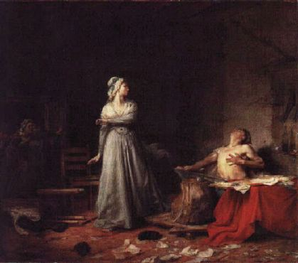 Santigo Rebull - Le meurtre de Marat (1875) - Museo nacional de Arte de Mexico