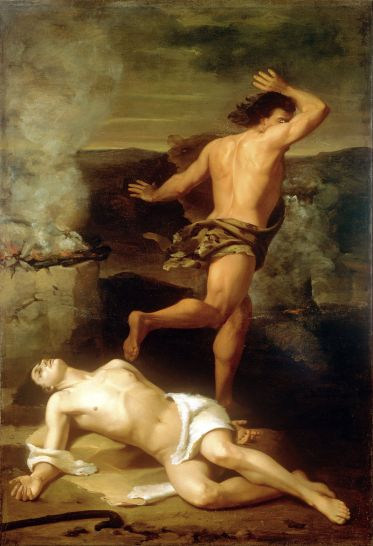 Santiago Rebull - La Mort d'Abel (1851) - Museo nacinal de Arte de Mexico