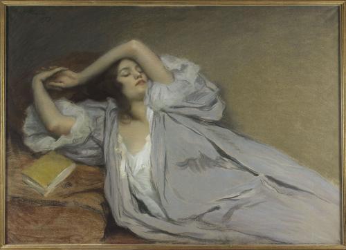 Femme étendue sur un divan Prouvé