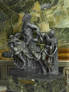 Le Laocoon d'après l'antique, Bronze du Primatice, 1543, Château de Fontainebleau,