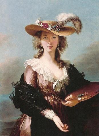 Elisabeth Vigée-Lebrun, Autoportrait au chapeau de paille (1782)