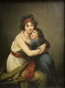 Elisabeth Vigée-Lebrun, Made Vigée-Lebrun et sa fille Jeanne Marie-Louise (1789)