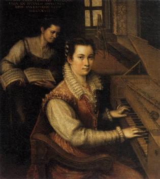 Lavinia Fontana, Autoportrait au clavecin (1577)
