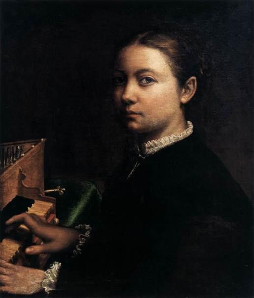 Sofonisba Anguissola, Autoportrait à l'épinette (1556)