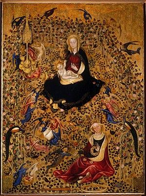 Vierge à l'Enfant dans l'hortus conclusus