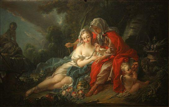 Vertumne et Pomone par François Boucher