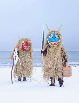 Costume de yokai en paille - © Charles Féger