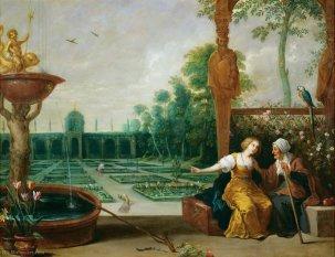 Vertumne et Pomone par David Tenier l'Ancien