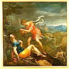 Le baptême de Clorinde par Ambrosius Bosschaert