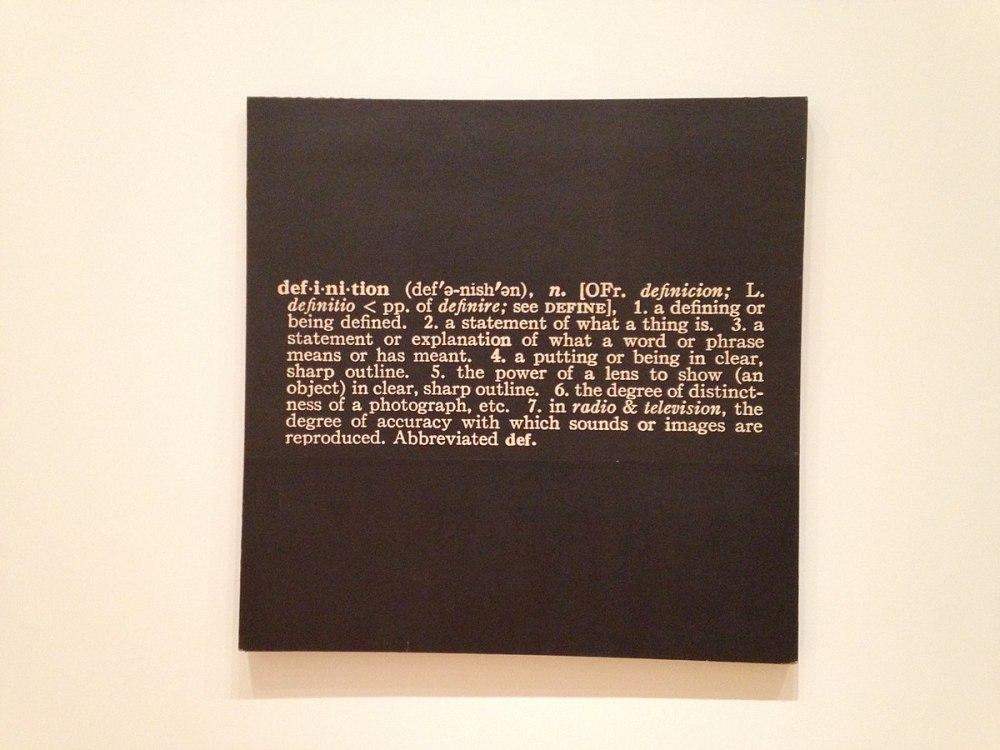 Joseph_Kosuth Titled(Art as Idea as Idea) The Word Definition