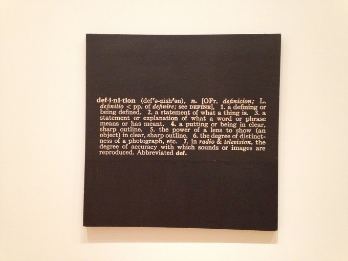 Joseph_Kosuth Titled(Art as Idea as Idea) The Word Definition
