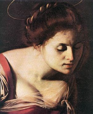 Détail du visage de la Vierge de la Madone des Palefreniers