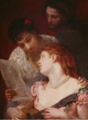Mary Cassatt, La musique, 1874, huile sur toile, Paris, Petit Palais, musée des Beaux-Arts de la Ville de Paris, photo © RMN-Grand Palais / Agence Bulloz