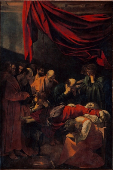 Caravage, La Mort de la Vierge,