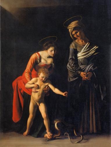 Caravage, La Madone des Palefreniers, 1605-1606