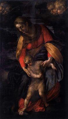 Ambroise Figino, La Vergine e il Bambino schiacciano il serpente, v. 1581-1583, retable de San Fedele, Gênes