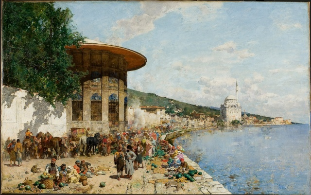 Alberto_Pasini_-_Market_Day_in_Constantinople_-_Google_Art_Project