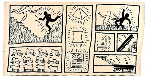 Keith Haring – Fashion Moda, (1980), 122 x 277 cm
