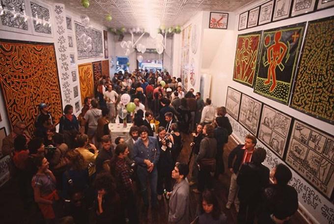 Keith Haring solo exhibition opens at Tony Shafrazi Gallery in SoHo