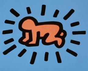 Keith Haring, Bébé rayonnant, 1980.