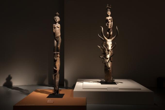 """MQB. Vue de l'exposition """"Madagascar, Arts de la Grande Île"""". Du 17 septembre 2018 au 1er janvier 2019."""