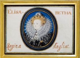 HILLIARD Nicholas, Portrait d'Elizabeth Ier, 1586-1587, conservé au V&A Museum (Londres) © Victoria and Albert Museum