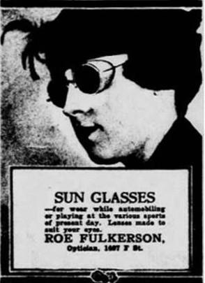 Publicité pour les lunettes de soleil parue dans le Herald Tribune en 1898
