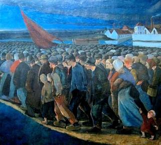 Eugène Laermans le drapeau rouge 1893