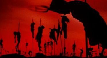Combat de Dracula en théâtre d'ombres