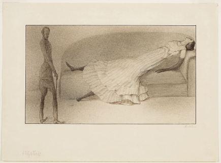 Alfred Kubin Hysteria [Hystérie], vers 1901 Encre et aquarelle, 24 x 33 cm © Vienne, Leopold Museum