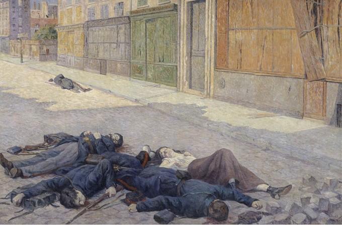 maximilien luce - une rue à paris en mai 1871