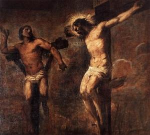 Le Christ et le bon larron, Le Titien, 1563, Pinacoteca Nazionale de Bologne.