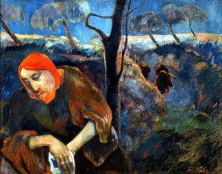 Paul Gauguin, Le Christ au jardin des Oliviers, 1889, Museum of Art de Norton.
