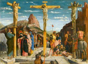Le Christ et les deux larrons, Mantegna, 1456-1460, Musée du Louvre.