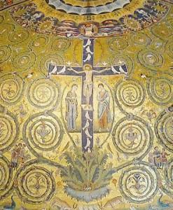La croix arbre de vie, Basilique St Clément, Rome, XIe siècle.