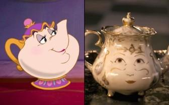 Mrs Samovar, La Belle et la Bête, version 1991 et 2017, © Disney