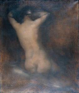 Eugène Carrière, Fifure vue de dos se peignant