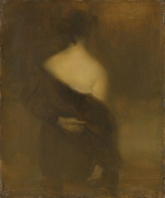 Eugène Carrière, Femme de dos se déshabillant