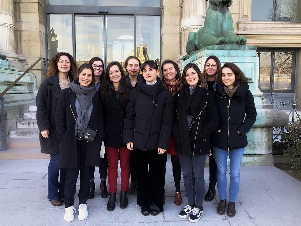 Photo des commissaires, exposition Delacroix et Eugène