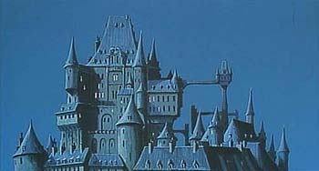 L'architecture du château de Cagliostro