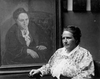 Gertrude-Stein-portrait-et-photo